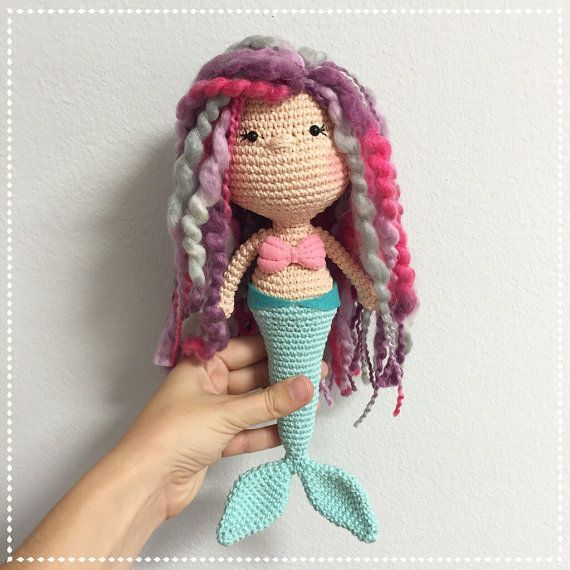 Made to order for Amigurumi MERMAID Doll by CranberriesKnot Made to order for Amigurumi MERMAID Doll by CranberriesKnot