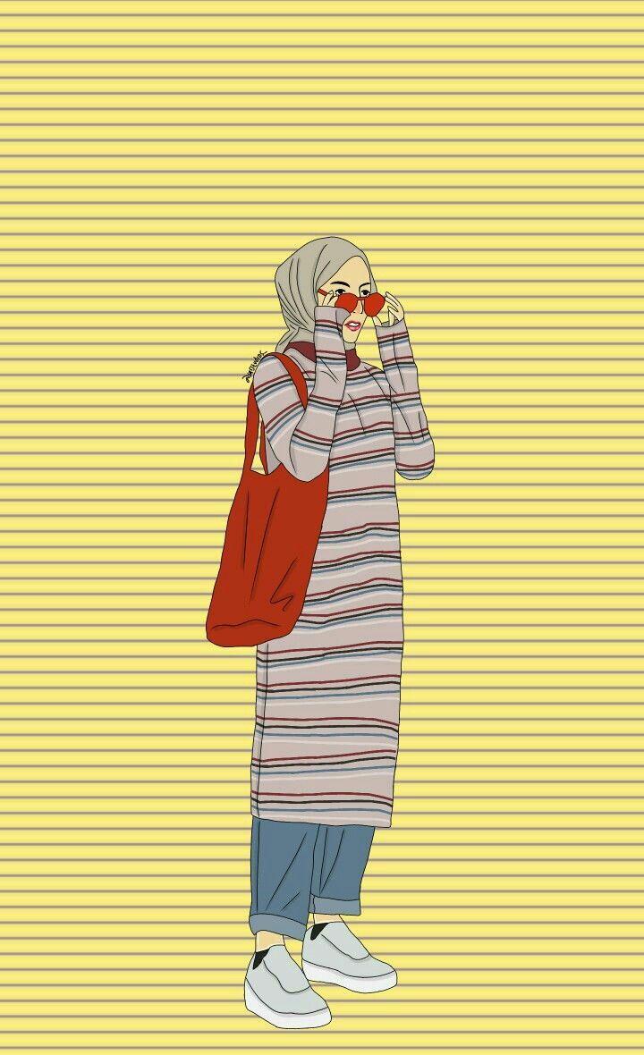 Hijab wanita Kartun, Ilustrasi karakter, Gambar karakter