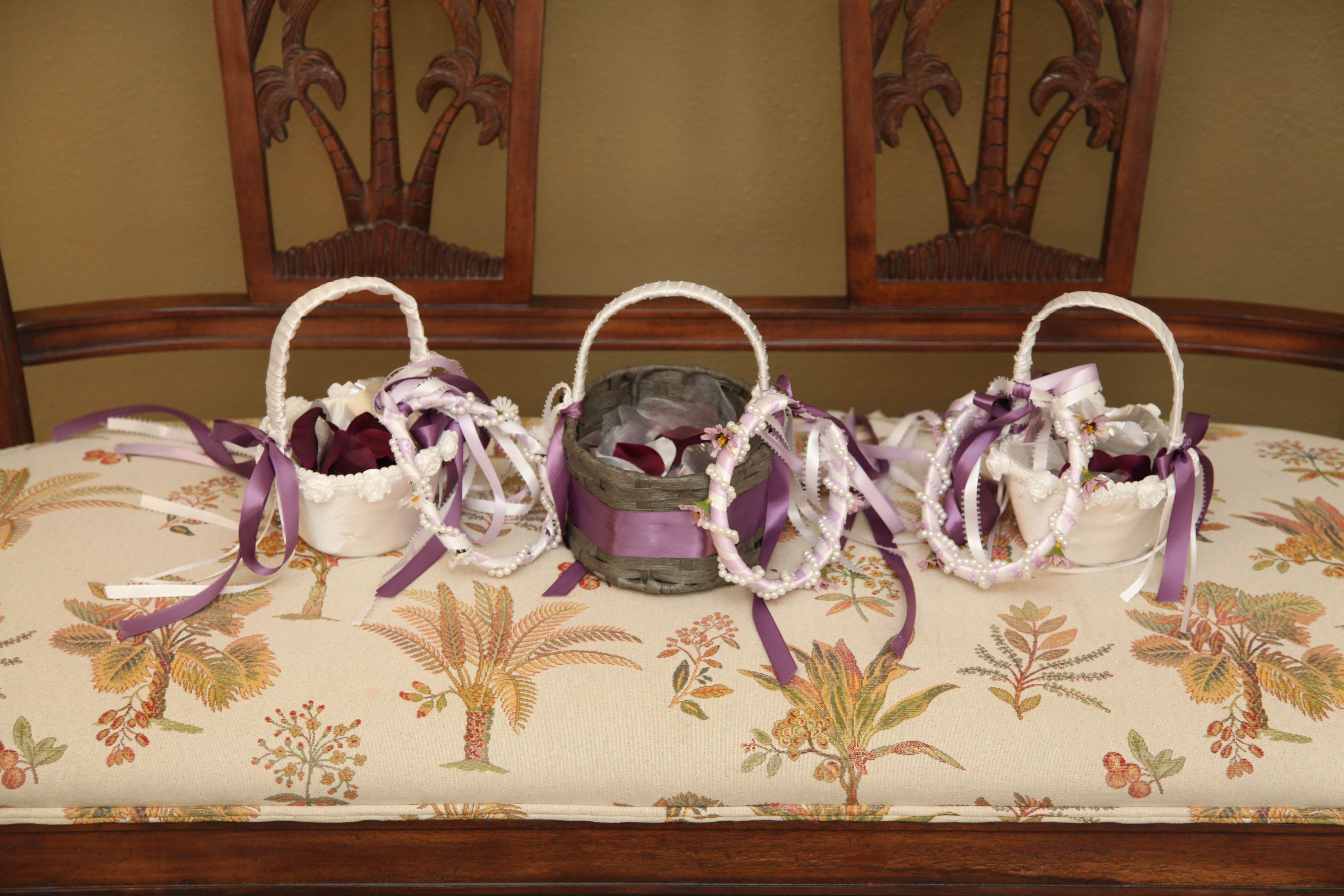 Diy flower girls baskets and headpieces diy flower girl