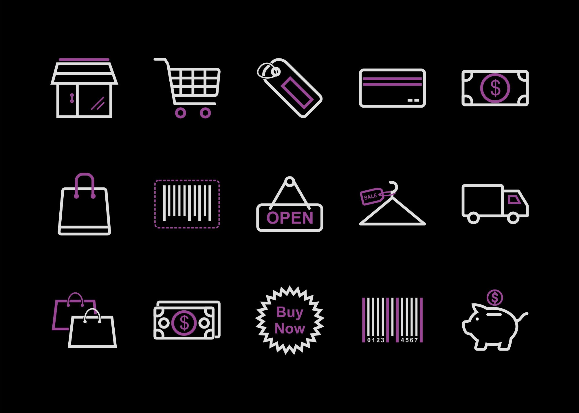 Free Online Shopping Icon Set (With images) Free logo