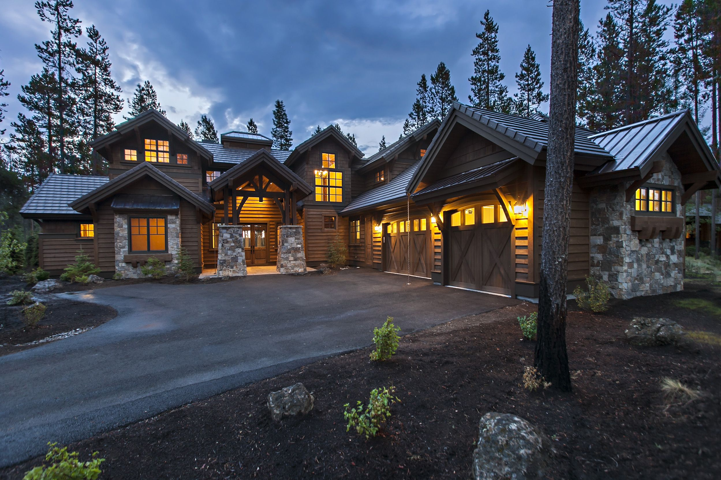Plan 54200hu Stunning Mountain Home With Four Master Suites Rustic House Plans Craftsman House Plans Craftsman Style House Plans