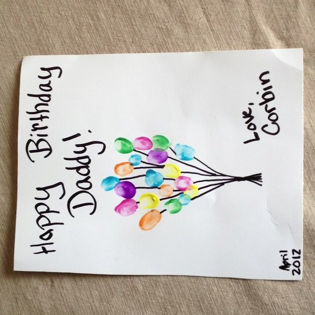 Birthday Card Making Ideas For Dad Part - 48: Homemade Birthday Cards For Dad From Toddler - Google Search