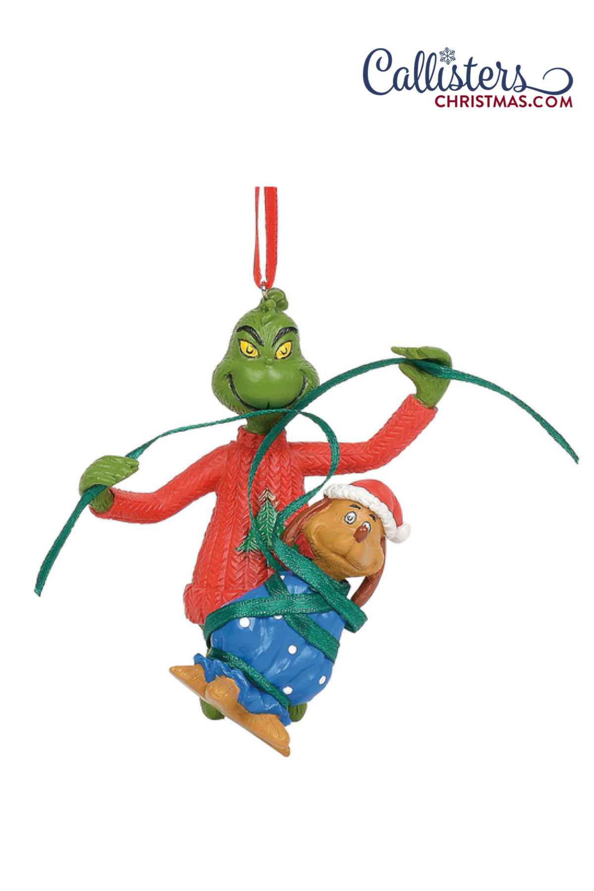 Grinch Wrapping Max Ornament Grinch ornaments, Old world