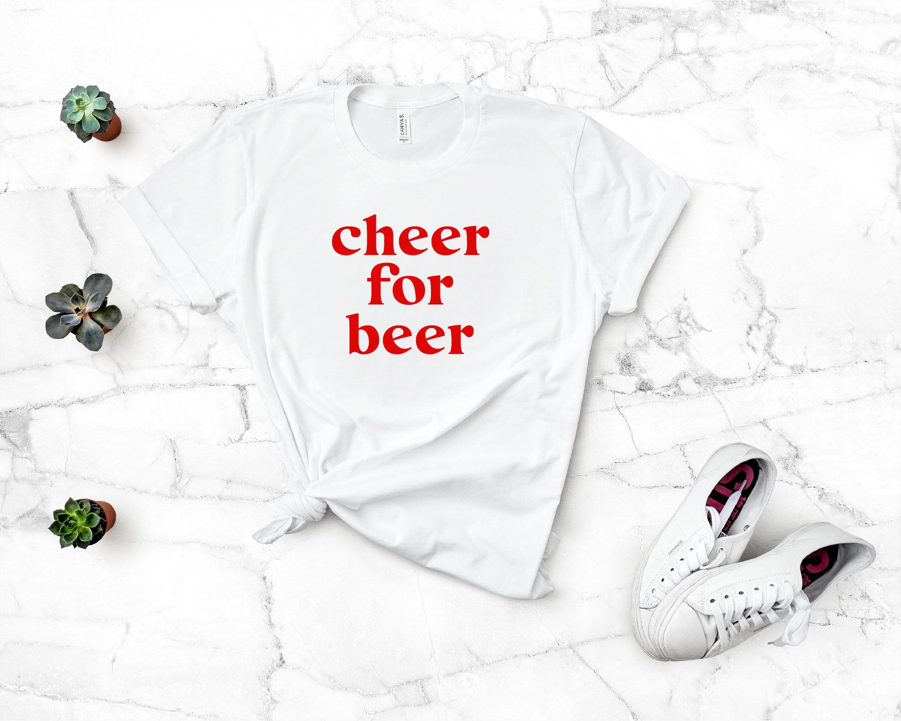 Cheer for Beer Game day Tailgate Tee Shirt College