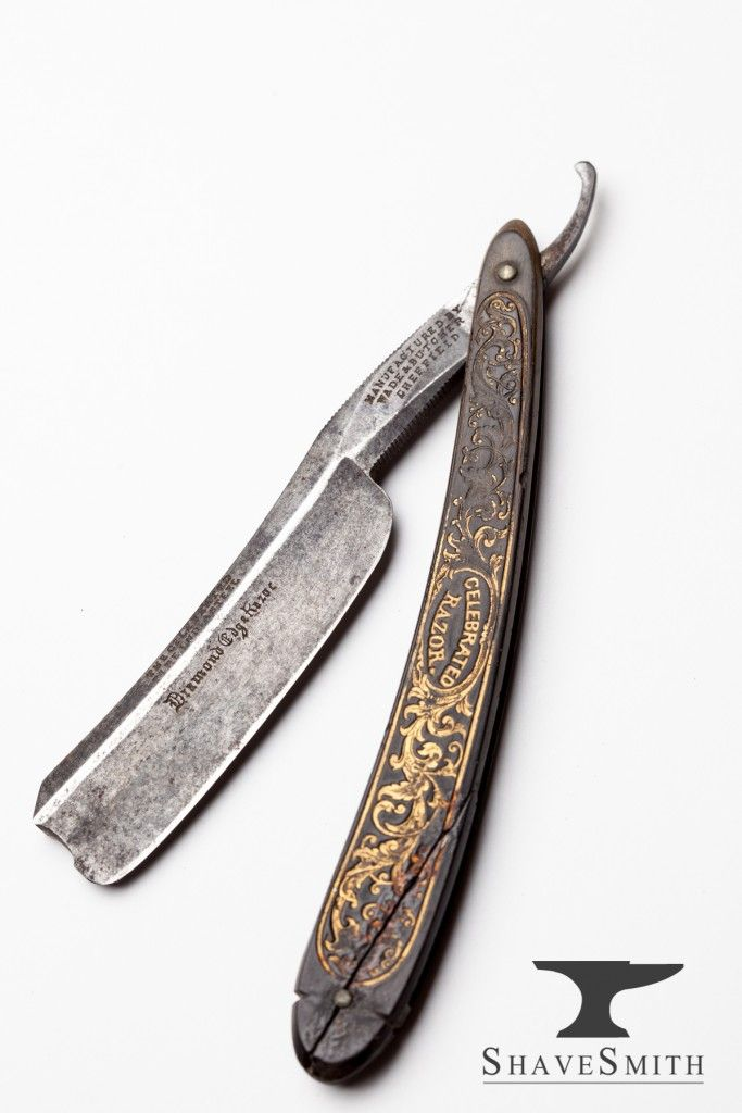 Vintage straight razors shavesmith straight razor for Straight edge razor tattoo