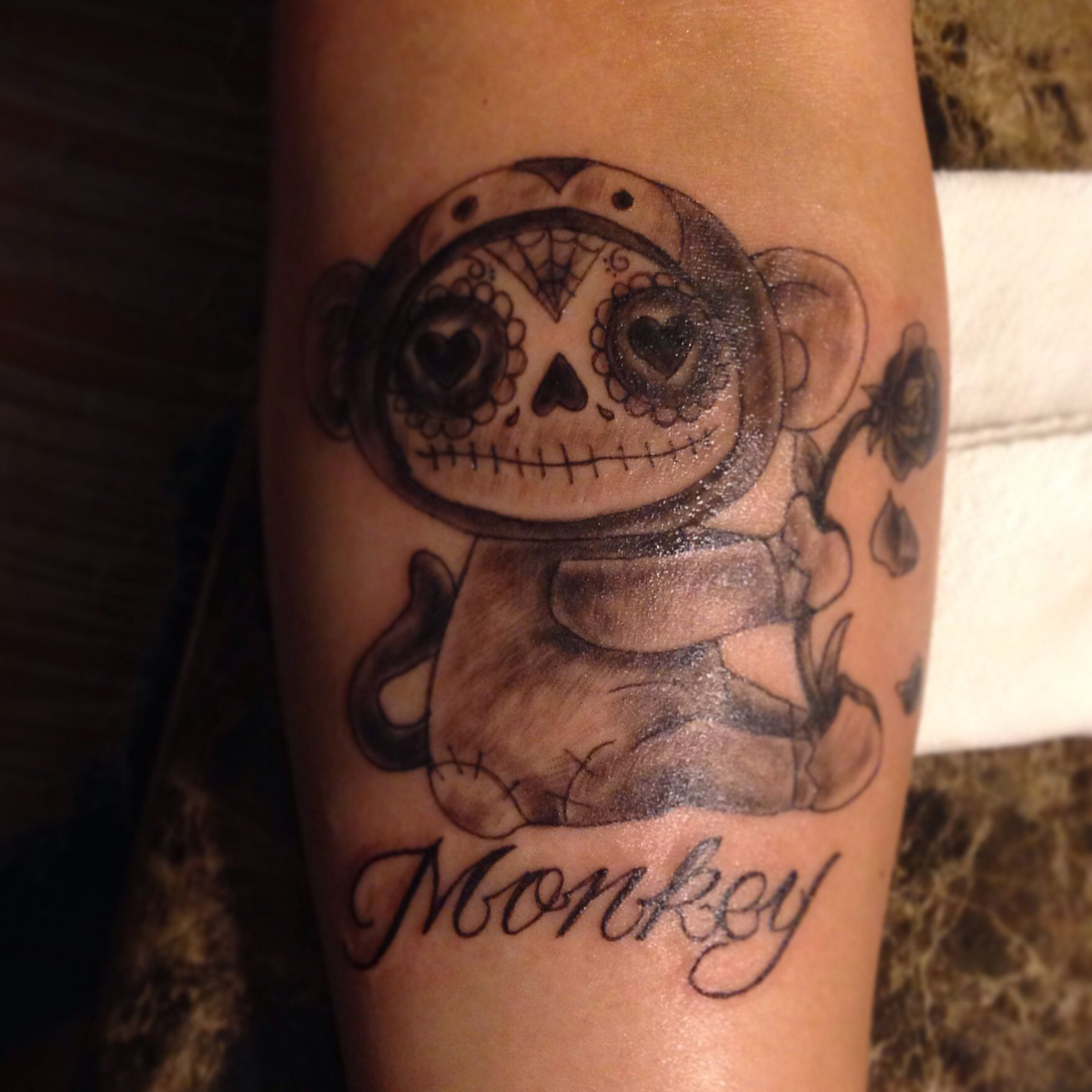 monkey tattoo!! day of the dead.. | me likey!!!! | pinterest