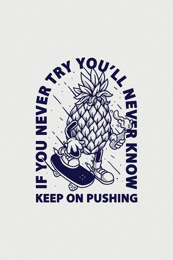 Pineapple Skateboard Vector Illustration Stock Vector (Royalty Free) 1449236879