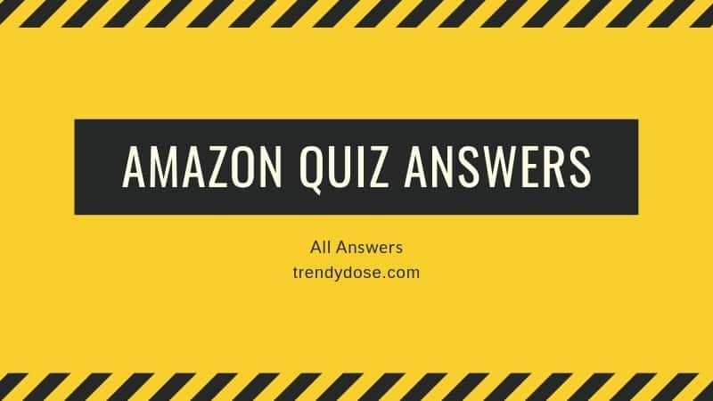 Hello Guys Amazon Is One Of The Biggest Online Shopping Store Of India Where You Can Get From Grocery Electronics Clothes And Quiz World Health Day Answers