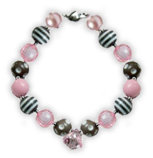 Gray Pink Diamond Necklace