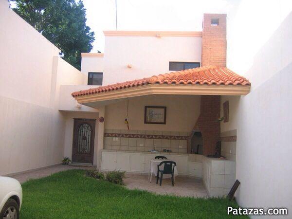 Jard n mi casa ideal pinterest churrasqueira reas - Pergolas para jardines pequenos ...