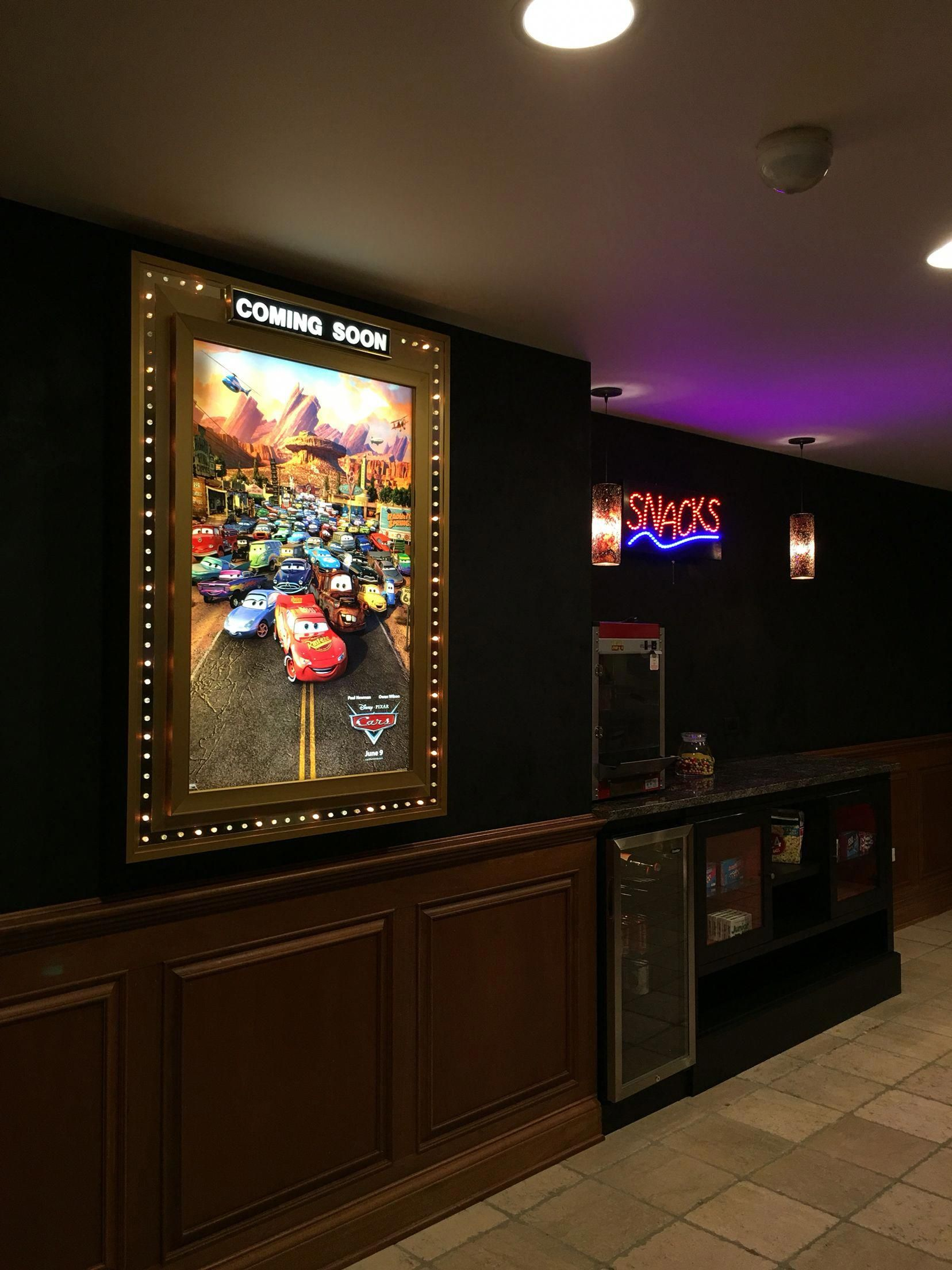 Concession stand for home theater contemporary decor