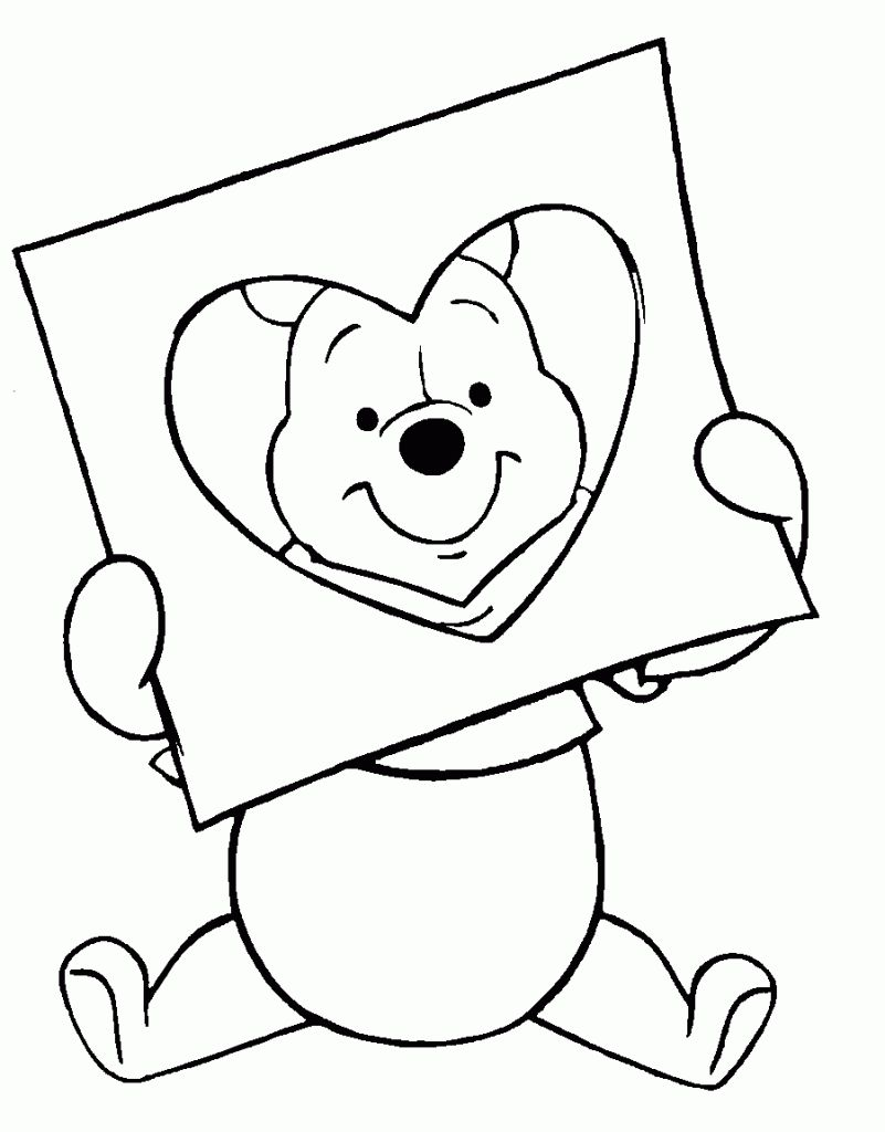 Disney Coloring Pages Valentines Day Printable
