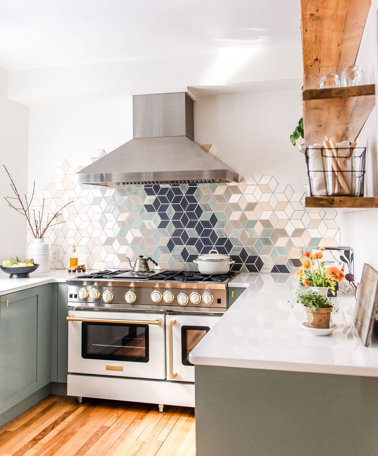 full reveal of our modern u shaped kitchen remodel heartbeet kitchen in 2020 modern kitchen on u kitchen remodel id=27352