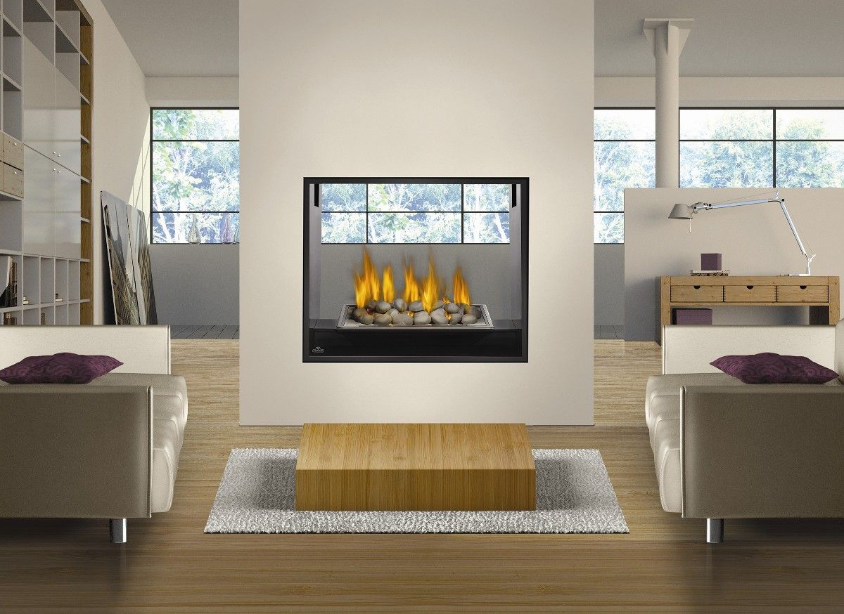 Fire Stones For Fireplace Napoleon Fireplace Hd81nt See Throuugh Modern Direct Vent