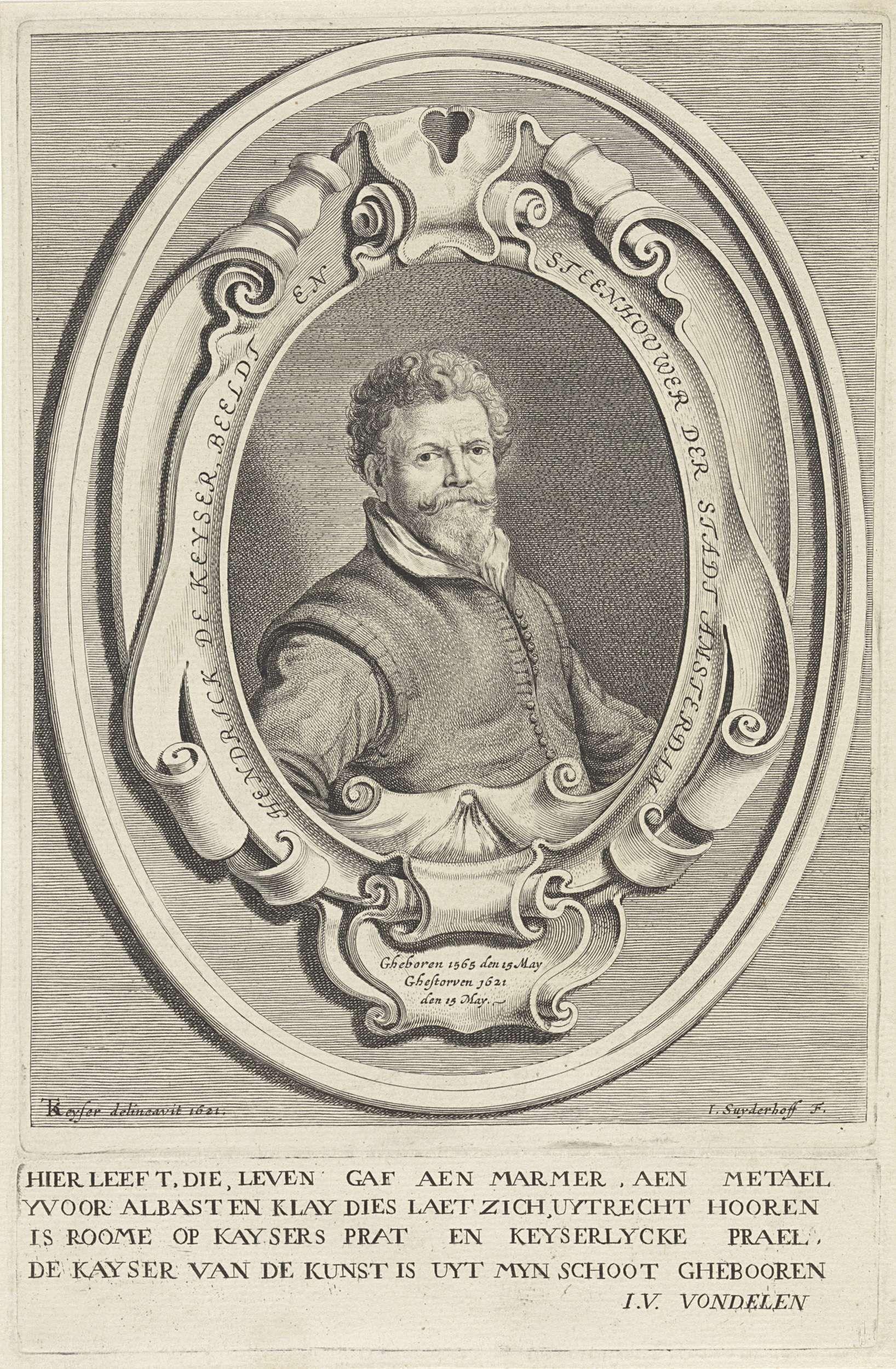 Jonas Suyderhoef Portret Van Hendrik De Keyser Jonas