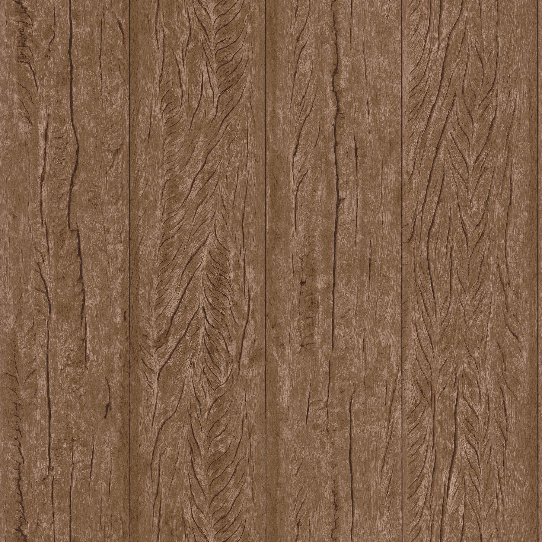 Papier peint intissé Material bois marron