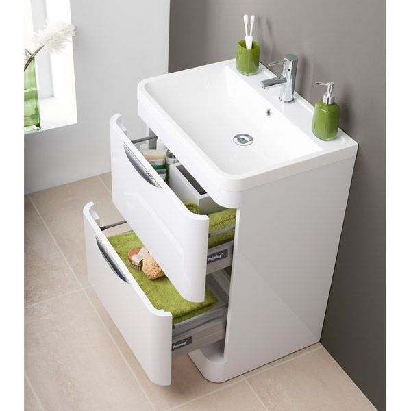monza floor standing vanity unit with basin w600 x d445mm bathroom