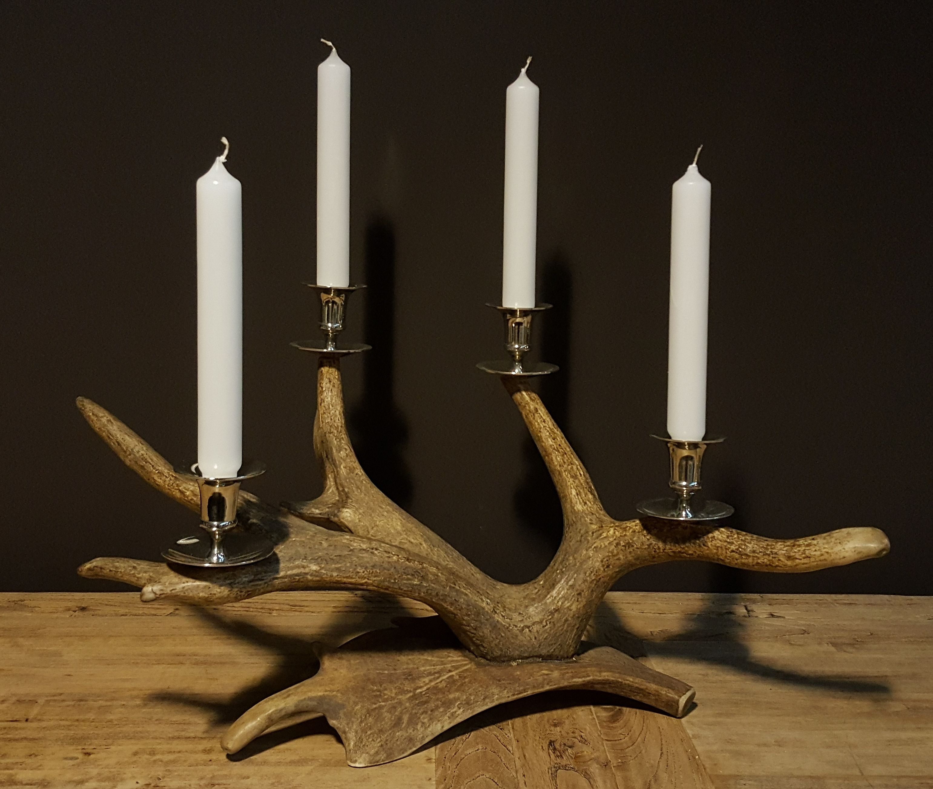 Antler candleholder - we have many different antler candle holders in stock -antler home decoration - antler furniture -