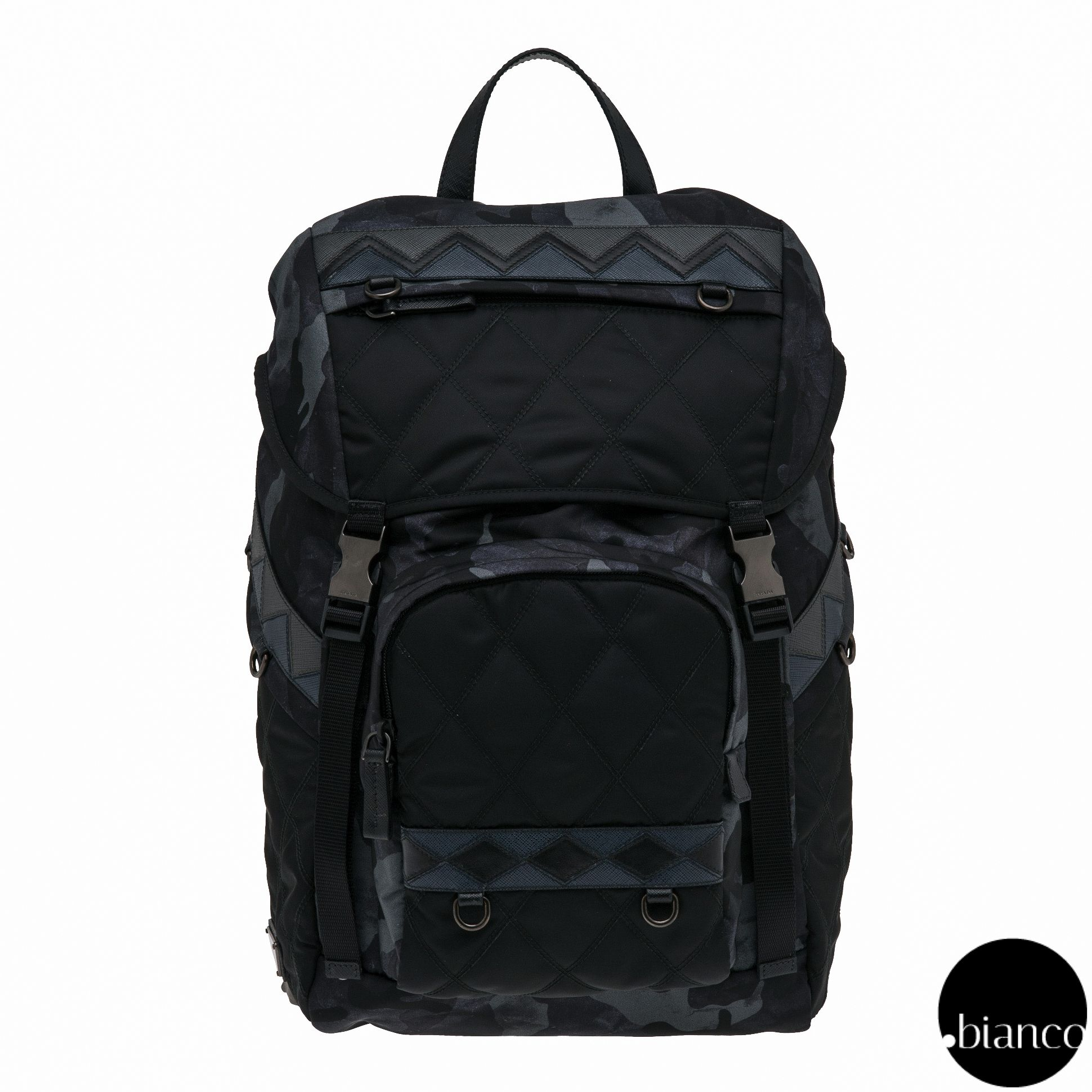 71c7851302df ... ireland prada backpacks camouflage unisex nylon a4 bi color backpacks  7f291 4cc45 ...