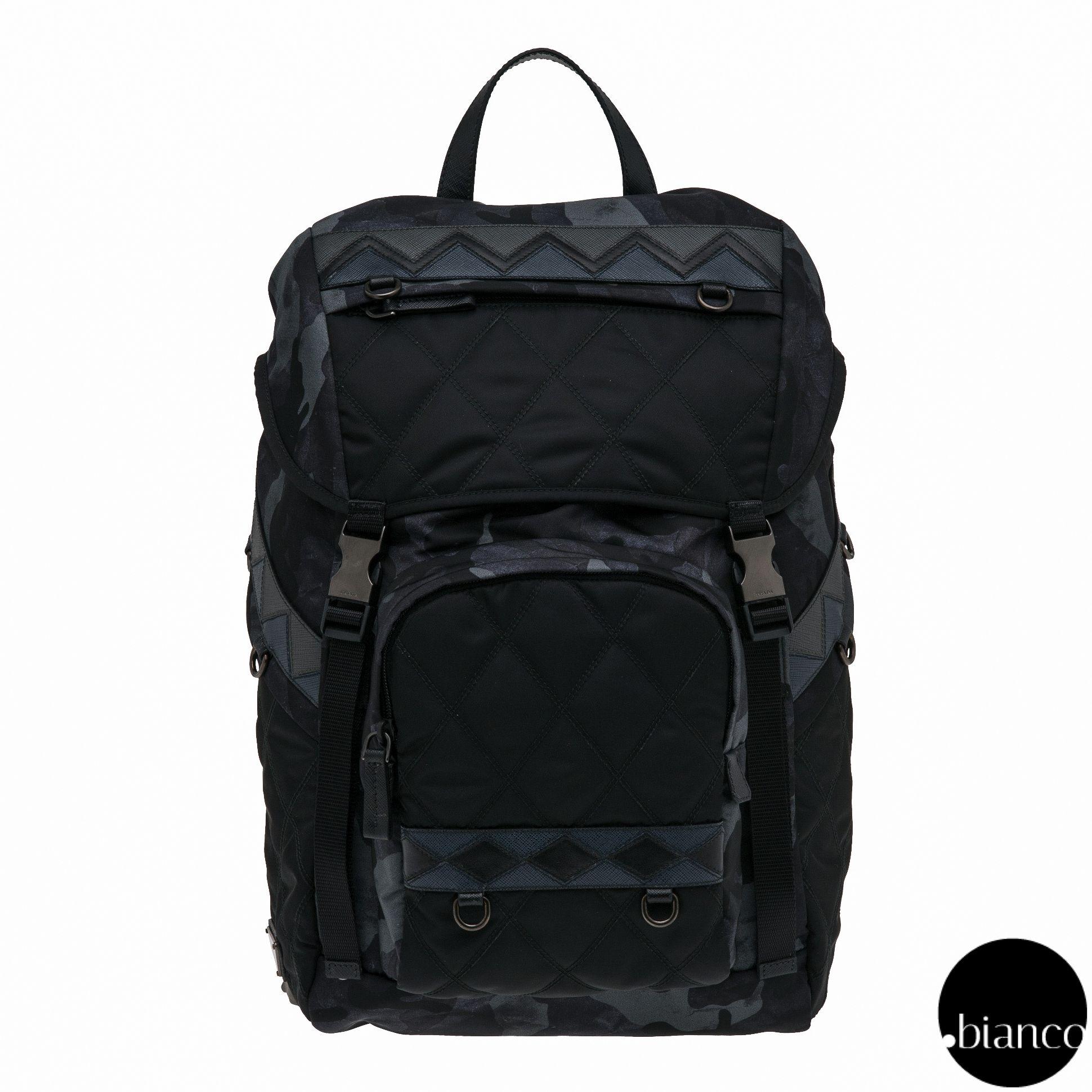 PRADA Backpacks Camouflage Unisex Nylon A4 Bi-color Backpacks  2680d0b33b8ae