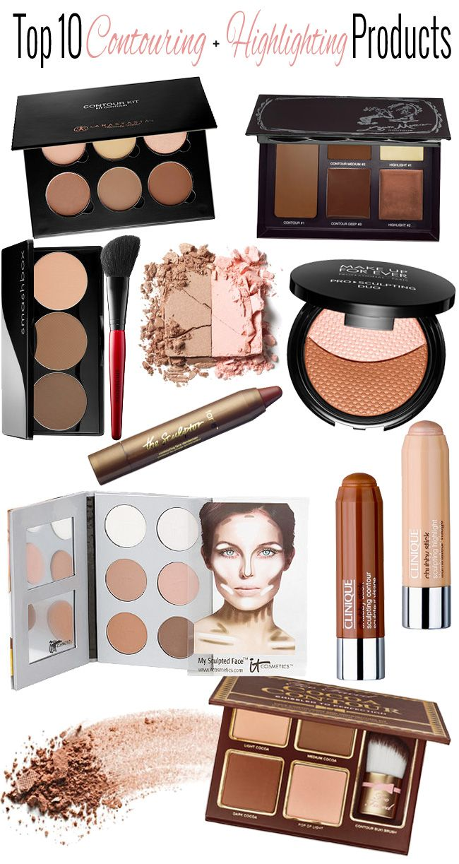 Top 10 Contouring Highlighting Products With Tutorials Beautiful Makeup Search Highlighter Makeup Contour Makeup Contouring And Highlighting