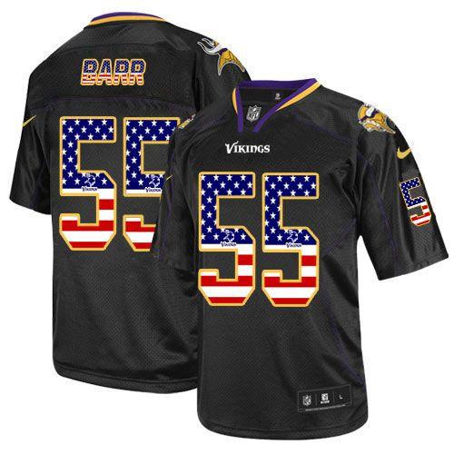 e1516aee0 ... new arrivals nike limited anthony barr black mens jersey minnesota  vikings 55 nfl usa flag fashion