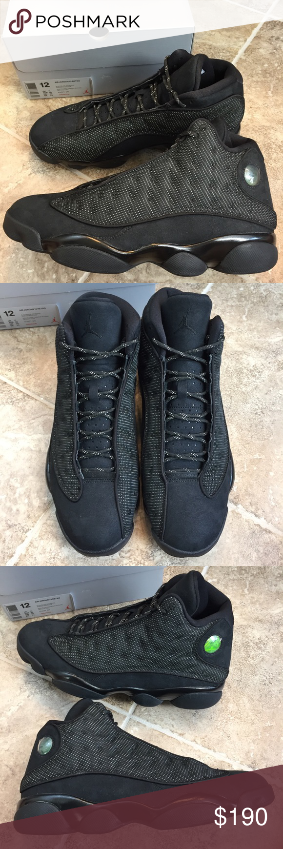 """f9c339bfac1 Jordan Retro 13 """"Black Cat"""" Brand new in box. These shoes have small ..."""