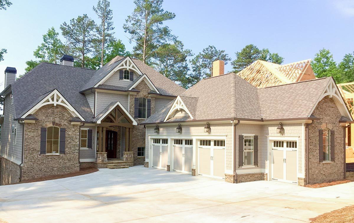 Luxury Craftsman House Plan Idea for a Rear Sloping Lot