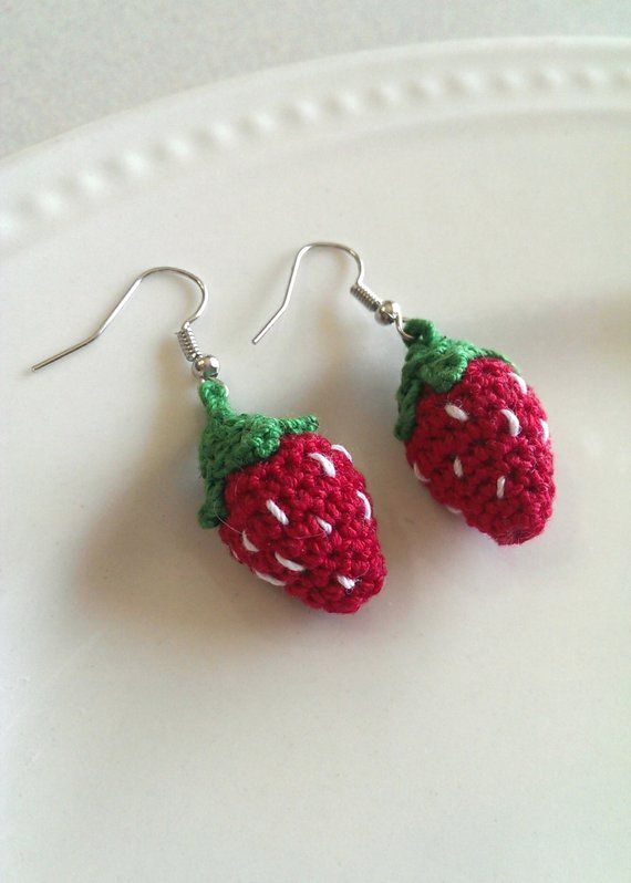 Micro Amigurumi Crocheted Earrings PDF Pattern INSTANT DOWNLOAD Sweet Nothings #crochetedearrings