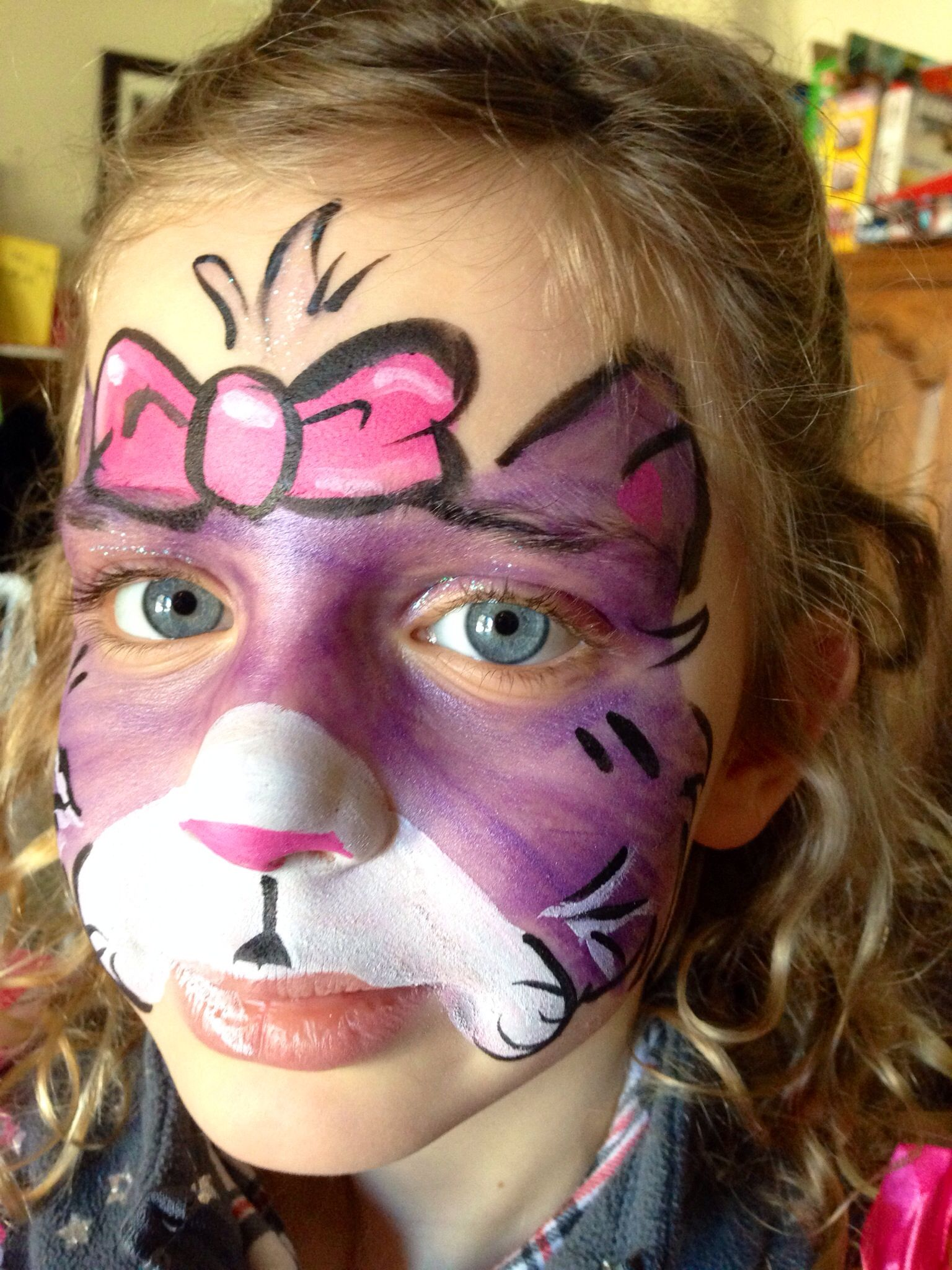 Face painting kitty cat girl face painting cat girl