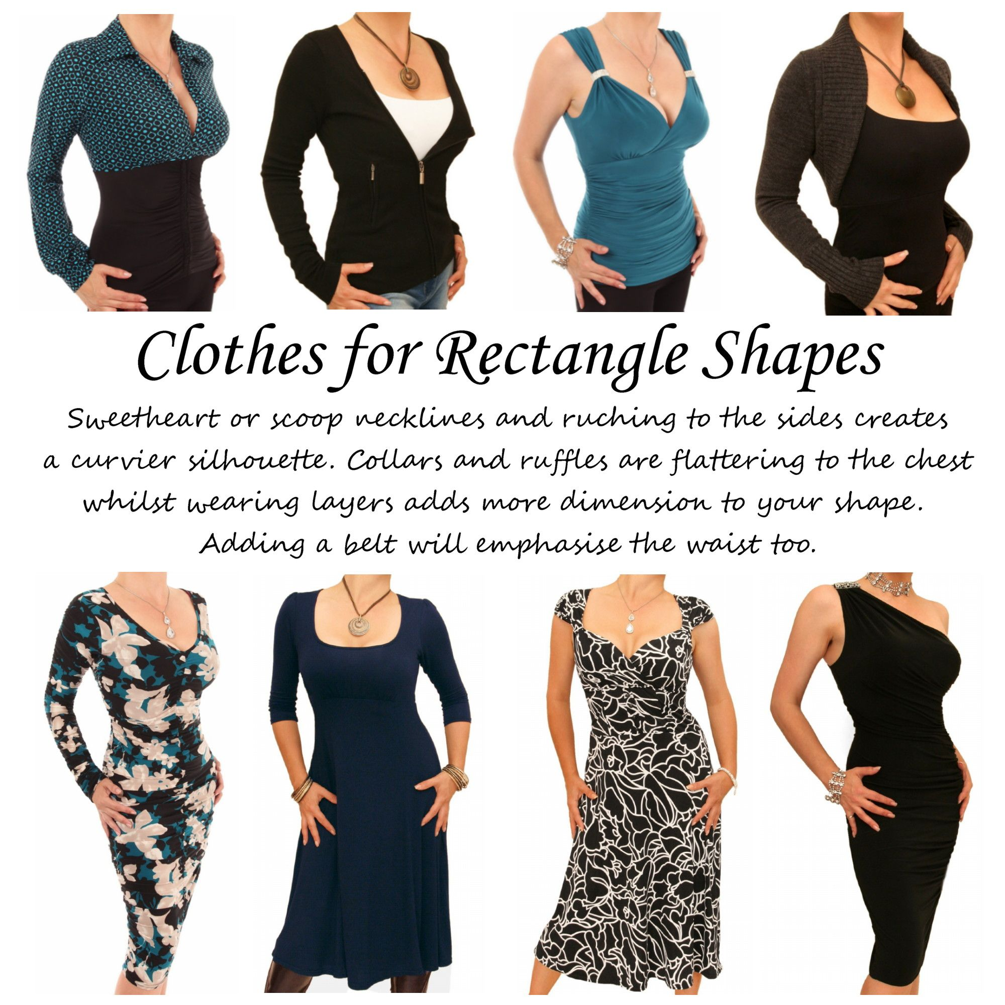 7d997ffd61 Clothes for Rectangle Body Shapes. The definition of a rectangle body shape  is when the