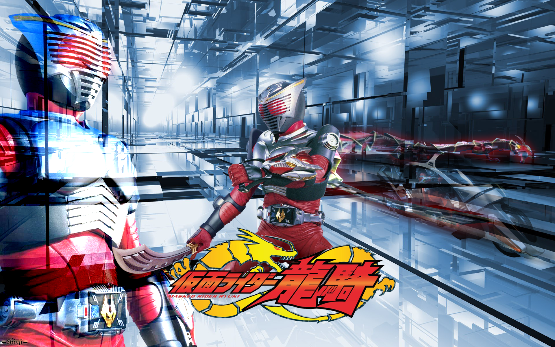 kamen rider ryuki wallpaper by malecoc on deviantart all
