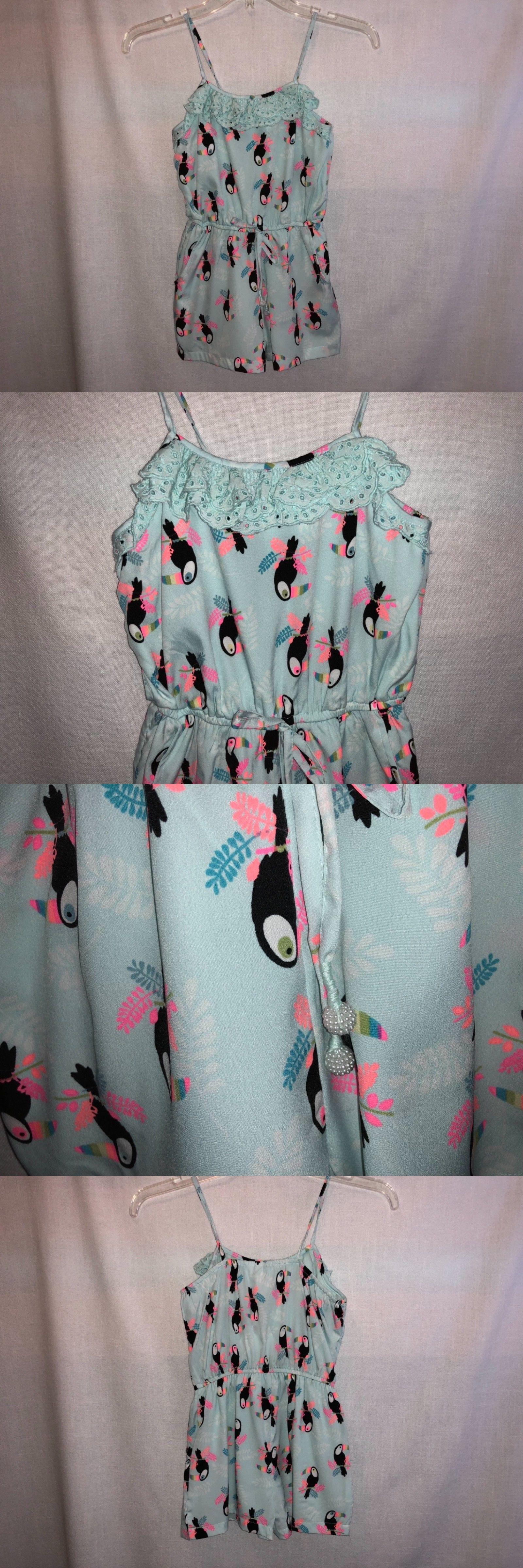 bb8a6d7506de Jumpsuits and Rompers 175528  Nwt! Girls Sz 8 Japna Kids Too Cute Romper W  Toucan Print -  BUY IT NOW ONLY   21.99 on  eBay  jumpsuits  rompers  girls  ...