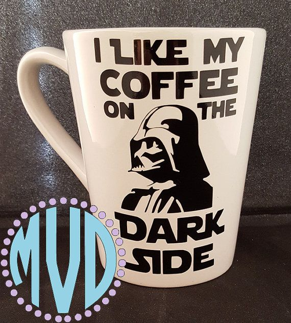 Star Wars Darth Vader I Like My Coffee On The Dark Side Coffee Mug Star Wars Mugs Disney
