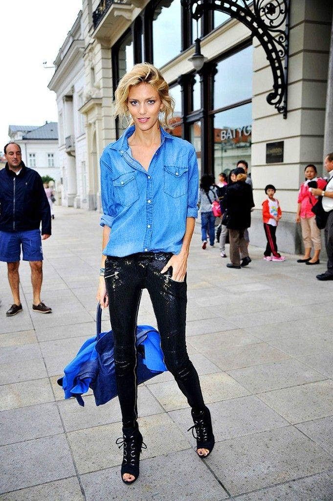 5c8620f97 25 maneiras de usar camisa jeans feminina Fashion