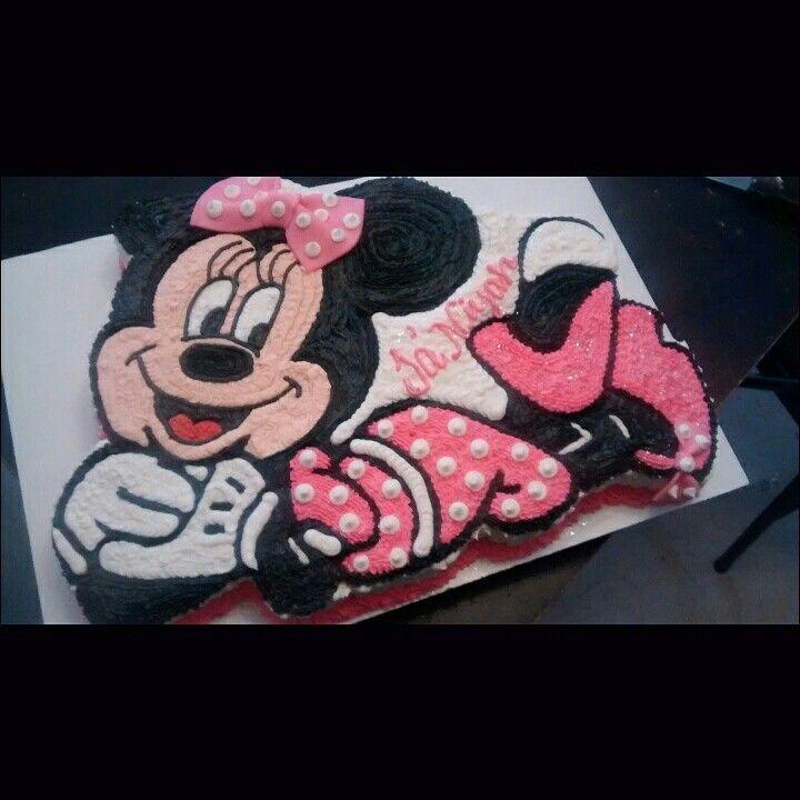 Minnie cake by @ curshanacakes