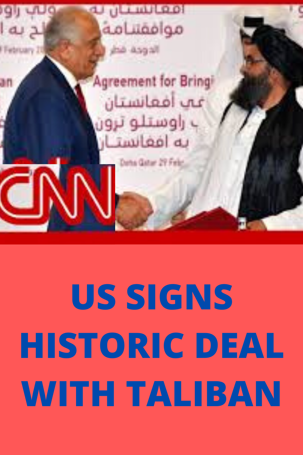 The US and the Taliban signed an agreement which begins