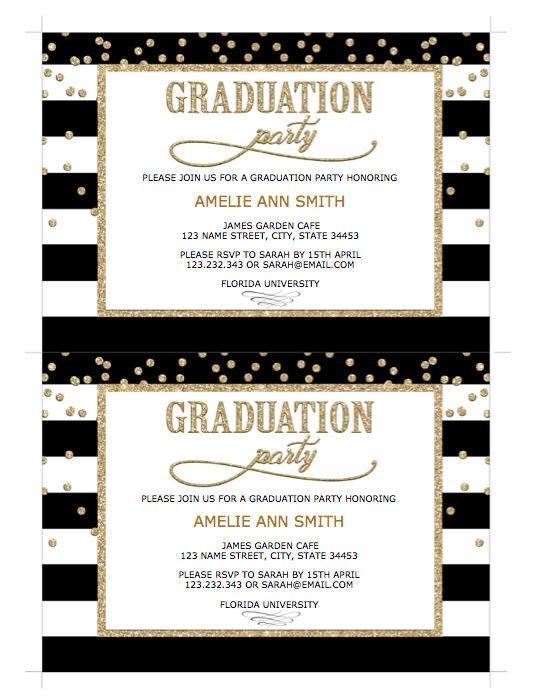 GRADUATION INVITATION Instant Download Graduation Invitation - Party invitation template: welcome party invitation template