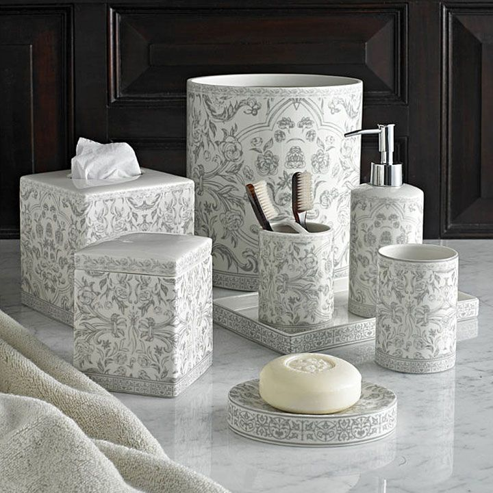 Gentil Kassatex Orsay Grey Bath Accessories | Gracious Style