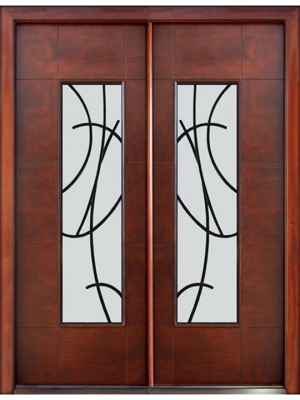 Glass Sandblasted W 3 4 Flat Irontimber Mahoganysingle Door 3 0 X 6 8 8 0 X 1 3 4 Double Front Doors Contemporary Front Doors Contemporary Entry Doors