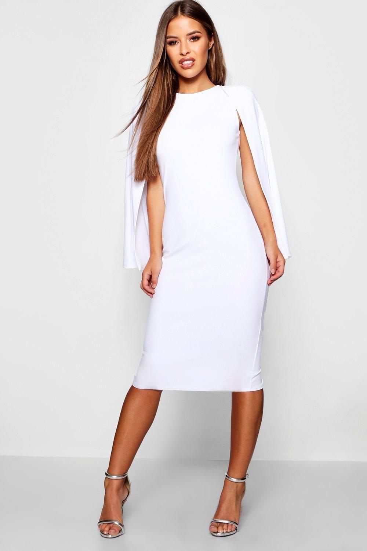 Petite Cape Sleeve Midi Dress  Boohoo UK in 17  Midi dress