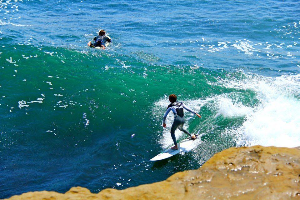 Surfing Steamer Lane in Santa Cruz, California. #surfing #santacruz #norcal