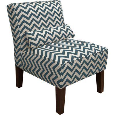 Skyline Furniture Chevron Armless Upholstered Chair