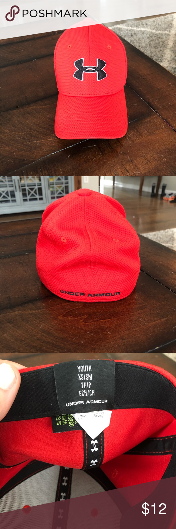 f76f0d5d5b5 Boys Under Armour Hat Good condition. Red