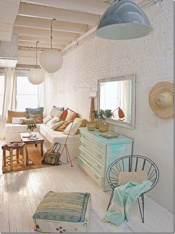 interior design, french style, Shabby chic interior, Boho