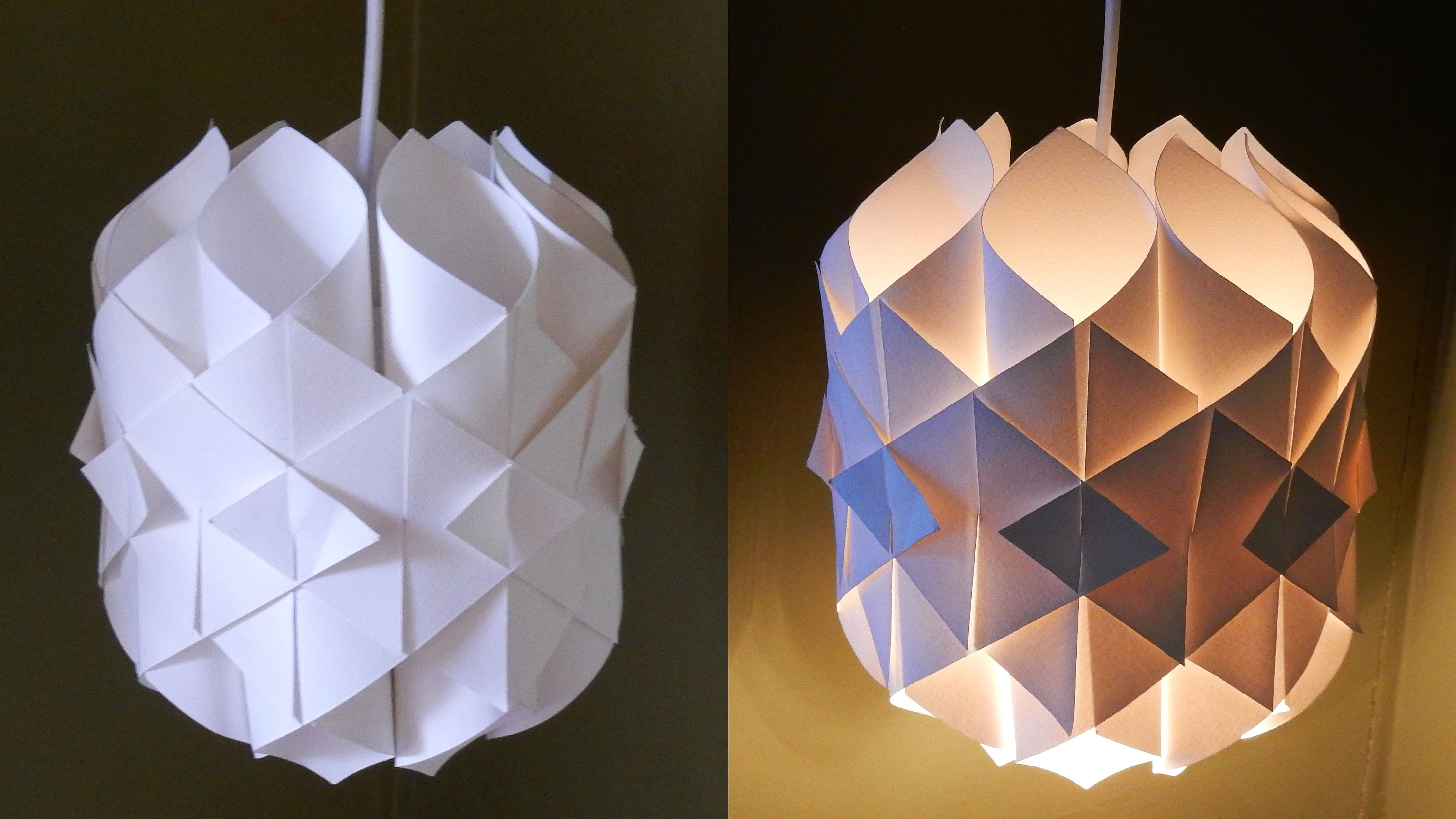 DIY paper lamplantern Cathedral light how