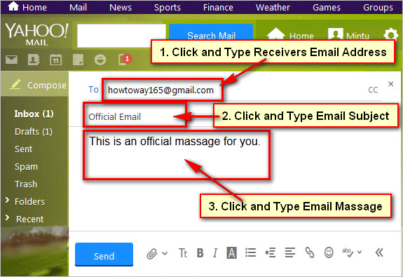 How to send an email using Yahoo! mail account  Yahoo has a free