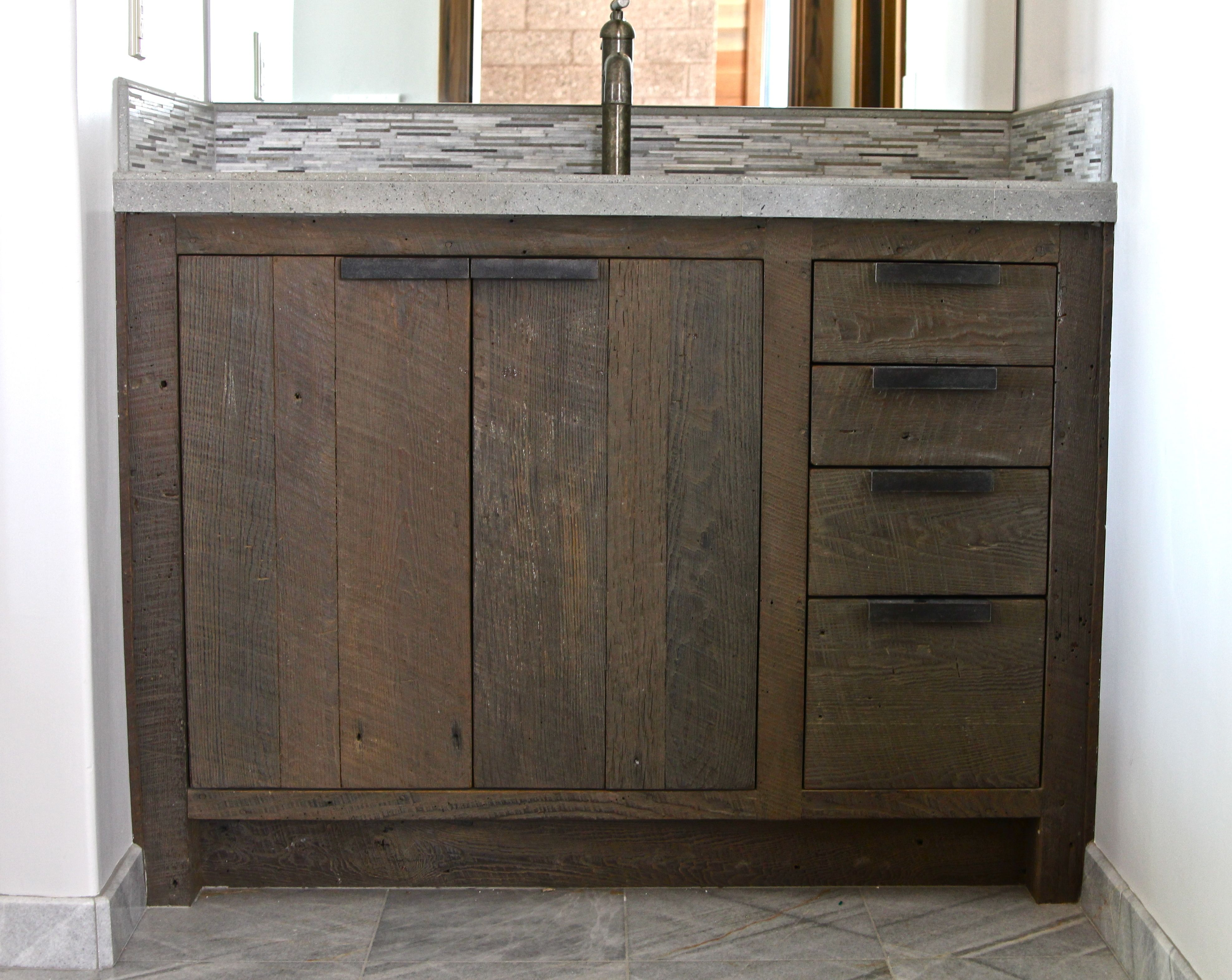 Unfinished bathroom vanity base - Bathroom Classic Unfinished Barn Wood Ikea Bathroom Vanity With Double Door With New Ideas And