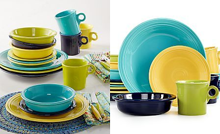 Macy's Exclusive! Fiesta Mixed Cool Colors 16-Piece Set, Service for 4