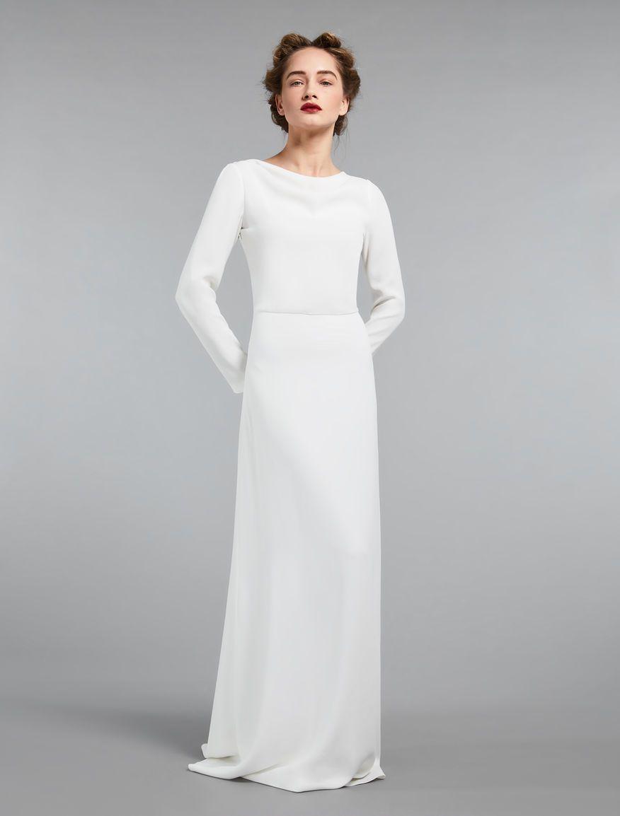 35+ White silk crepe wedding dress information